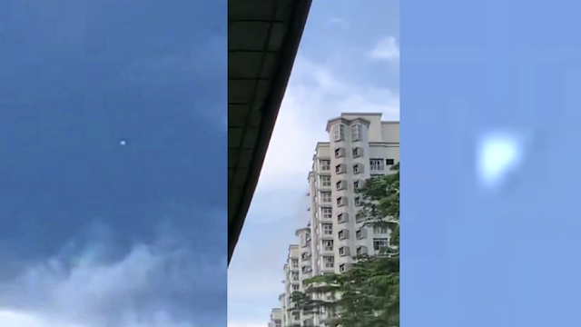Orbe blanco visto sobre Singapur el 7 de diciembre de 2020